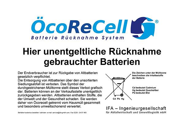 Batterieentsorgung