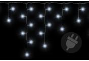 200 LED Lichterkette Eisregen Eiszapfen weiß Trafo Weihnachtsdeko Partylichter