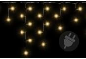 200 LED Lichterkette Eisregen Eiszapfen warm weiß Trafo Außen Weihnachtsdeko