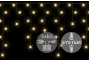diLED 80 LED Lichterregen Starterset warmweiß System LED Trafo Timer Xmas