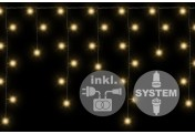 diLED 180 LED Lichterregen Starterset warmweiß System LED Trafo Timer XMAS