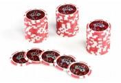 50 Poker-Chips Wert 5 Laserchip 12g Metallkern OCEAN-CHAMPION-CHIP abgerundet