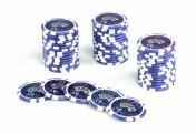 50 Poker-Chips Wert 10 Laserchip 12g Metallkern OCEAN-CHAMPION-CHIP abgerundet