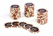 50 Pokerchips Wert 10000 Laserchip 12g Metallkern Ocean-Champion-Chip abgerundet