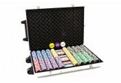 "Luxus-Trolley Pokerkoffer 1000 Laserchips Sonderedition ""Ocean Champion Chip"""