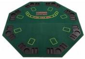 Faltbare Tischauflage Pokertisch Casino Pokerauflage für 8 Spieler 120 x 120 cm