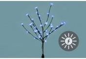 Solarlampe LED Leuchtbaum 36 LEDs kaltweiß Zweig mit Blüten Blinkfunktion