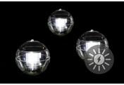 Schwimmkugel 3er Set Solarleuchte Solar 11cm LED weiß Teichbeleuchtung