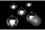 Schwimmkugel 5er Set Solarleuchte Solar 11cm LED weiß Teichbeleuchtung