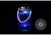 Solarglas mit 1 LED Solar Farbwechsel mit Aufhänger Glas Gartenbeleuchtung
