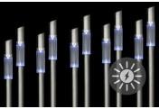 """10er Set Erdspieß LED Solarleuchte Edelstahl """"Colonna"""""""