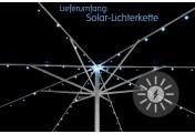 72 LED Solarlichterkette Sonnenschirm kaltweiß Blinkfunktion
