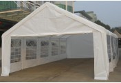 Hochwertiges Festzelt Partyzelt Bierzelt Garten-Pavillon weiß 5x10 m PE 180 g/m²