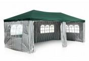 Pavillon Partyzelt grün 3x6m PE 110g/m² Gartenzelt Festzelt Eventzelt Marktzelt