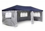 Pavillon Partyzelt blau 3x6m PE 110g/m² Gartenzelt Festzelt Eventzelt Marktzelt