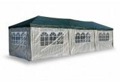 Pavillon Partyzelt grün 3x9m PE 110g/m² Gartenzelt Festzelt Eventzelt Marktzelt