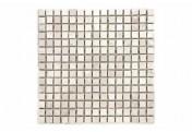 DIVERO 1 Fliesenmatte Naturstein Mosaik Marmor Wand Boden creme 30x30cm