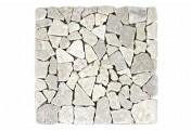 DIVERO 11 Fliesenmatten Naturstein Mosaik Marmor creme á 30x30cm