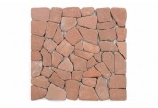 DIVERO 1 Fliesenmatte Naturstein Bruchmosaik terrakotta 30x30cm