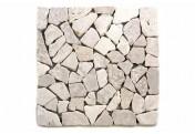 DIVERO 11 Fliesenmatten Naturstein Mosaik aus Marmor cremeweiß á 30x30cm