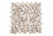 DIVERO 9 Fliesenmatten Mosaik aus Marmor Naturstein beige/rosa á 35x35cm
