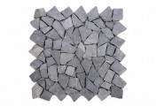 DIVERO 1 Fliesenmatte Naturstein Mosaik Marmor Wand Boden grau 35x35cm