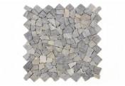 DIVERO 4 Fliesenmatten Mosaik aus Marmor anthrazit á 50 x 50 cm