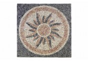 DIVERO Fliesen Rosone Sonne Naturstein Mosaik Marmor 120 x 120 cm