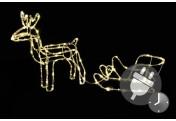 Rentier + Schlitten aus 6 m Lichterschlauch 83 LED warm weiß Trafo Timer Xmas