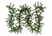 Weihnachtsgirlande Zweige mit LED-Kugeln gefrostet 200 LED warm weiß Trafo Timer