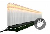 30 LED Lichterkette Weihnachtsbaumbeleuchtung Innen grünes Kabel Baum-Kerzen