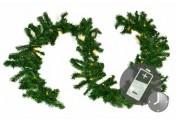 Weihnachtsgirlande mit 35er LED Lichterkette mit Timer 2,7 m Weihnachtsdeko
