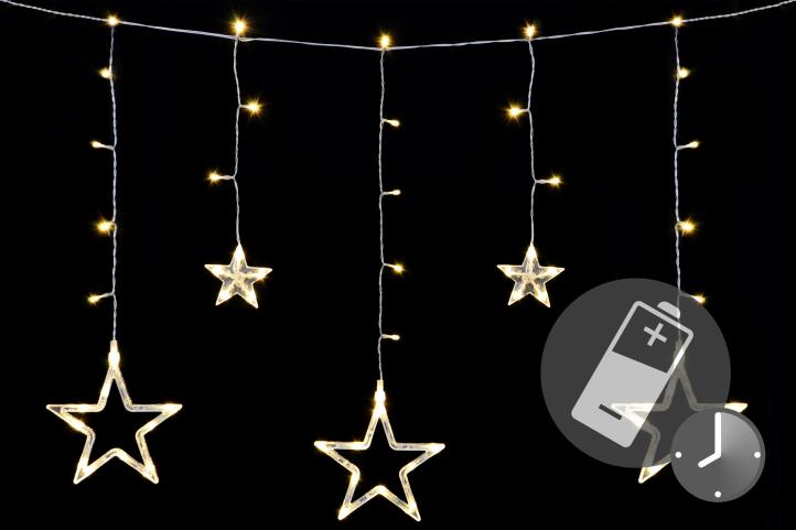 Weihnachtshänger 8 LED´s Rentier blau Batteriebetrieb Dekoration Weihnachten