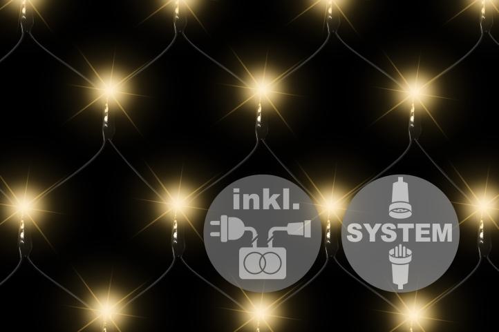 diLED 100 LED warm-weiß Lichternetz Starterset System erweiterbar Trafo Timer