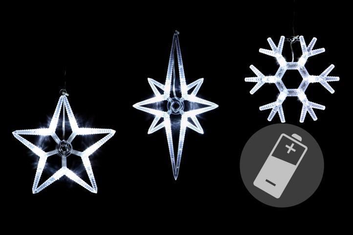 Schneeflocke Weihnachten LED Leuchte Leucht Stern Kugel
