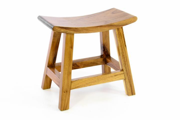 Divero Hocker Aus Suar Holz Holzhocker Sitzhocker Massiv