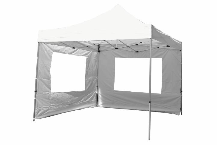Pavillon Partyzelt 3x3m blau weiß wasserdicht 4 Seitenteile Marktzelt Festzelt
